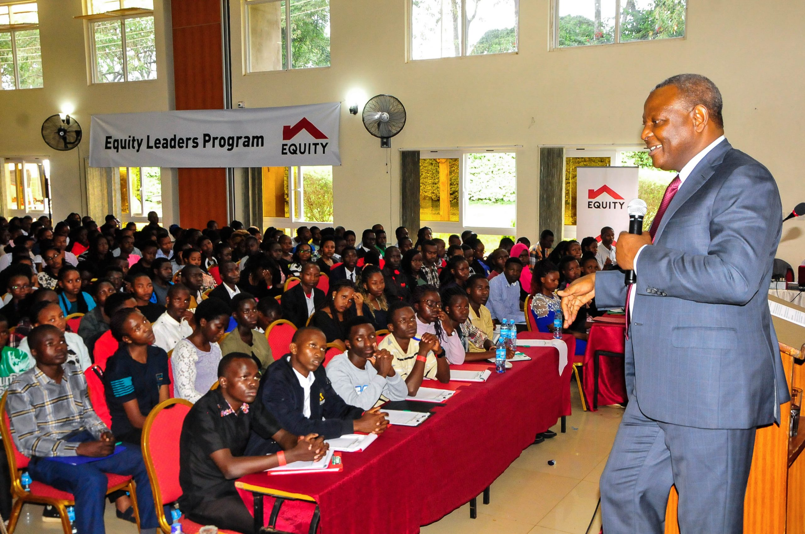 Equity Group Foundation Executive Chairman, Dr. James Mwangi addresses the 2020 Equity Leadership Program (ELP) cohort during their two week induction in February 2020.